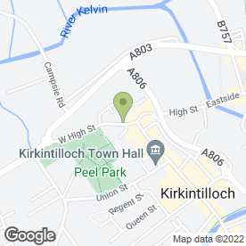 Map of Patrick Meechan Hair Design in Kirkintilloch, Glasgow, lanarkshire