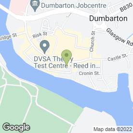 Map of Royal Bank of Scotland in Dumbarton, dunbartonshire