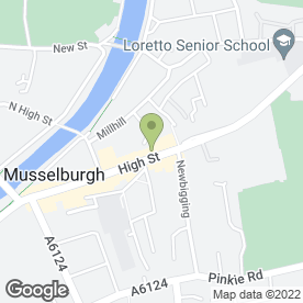 Map of The Tolbooth Cafe Restaurant in Musselburgh, midlothian