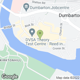 Map of Barclays Bank plc in Dumbarton, dunbartonshire
