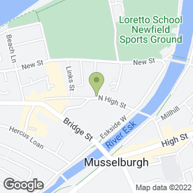 Map of Loretto Junior School in Musselburgh, midlothian