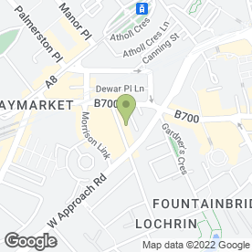 Map of ESCAPE SPA PODIATRY CLINIC in Edinburgh, midlothian