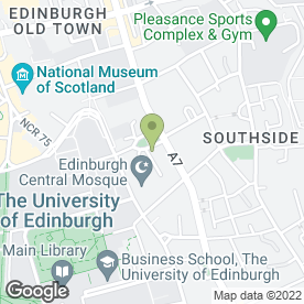 Map of The City of Edinburgh Methodist Church in Edinburgh, midlothian