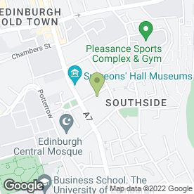 Map of TEN HILL PLACE HOTEL in Edinburgh, midlothian