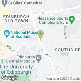 Map of Ti Amo Restaurant in Edinburgh, midlothian