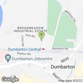 Map of Ritchie Builders Ltd in Broadmeadow Industrial Estate, Dumbarton, dunbartonshire
