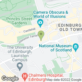 Map of Hijinks in Edinburgh, midlothian