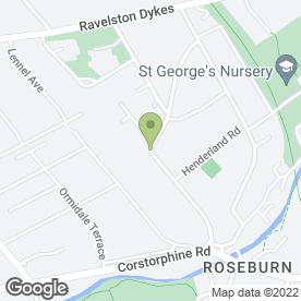 Map of Murrayfield House Care Home in Edinburgh, midlothian