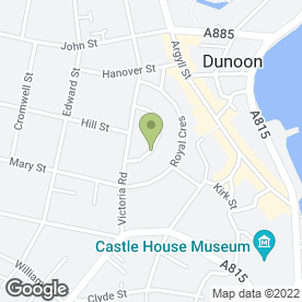 Map of Response Carpet Cleaning in Dunoon, argyll