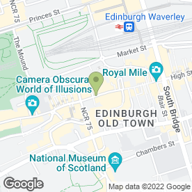 Map of The Filling Station in Edinburgh, midlothian