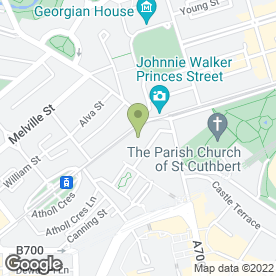 Map of Kasturi Indian Restaurant in Edinburgh, midlothian
