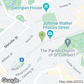 Map of The Filling Station Restaurant & Bar in Edinburgh, midlothian