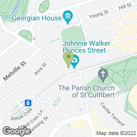 Map of Ryan's Bar And Cellar Restaurant in Edinburgh, midlothian