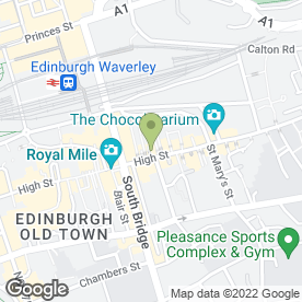 Map of The Mitre in Edinburgh, midlothian