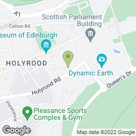 Map of The Holyrood 9A in EDINBURGH, midlothian
