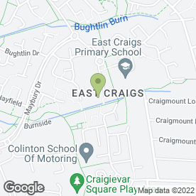 Map of East Craigs Dental Practice in Edinburgh, midlothian
