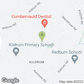 Map of Red Comyn Pub in Cumbernauld, Glasgow, lanarkshire