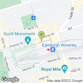 Map of McDonald's Restaurant in Edinburgh, midlothian