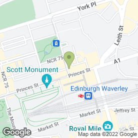 Map of McDonald's Restaurants Ltd in Edinburgh, midlothian