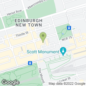 Map of Shanghai Club in Edinburgh, midlothian