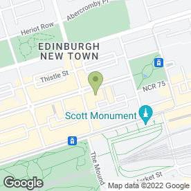 Map of The Royal Society Of Edinburgh in Edinburgh, midlothian