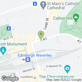 Map of Scottish Legal Complaints Commission in Edinburgh, midlothian
