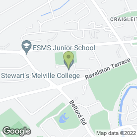 Map of Erskine Stewart's Melville Schools in Edinburgh, midlothian