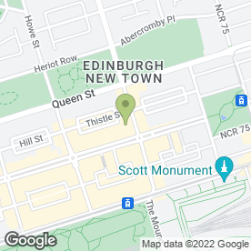 Map of HSBC Bank plc in Edinburgh, midlothian