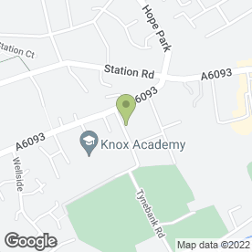 Map of Pear Tree Nursery Ltd in Haddington, east lothian