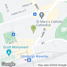 Map of St. James Tailor in Edinburgh, midlothian