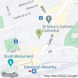 Map of Millies Cookies Ltd in Edinburgh, midlothian