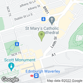 Map of Greggs in Edinburgh, midlothian