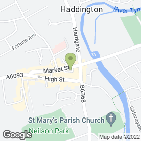 Map of Family Dental Practice in Haddington, east lothian