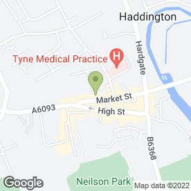 Map of The Health & Beauty Centre in Haddington, east lothian