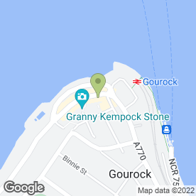 Map of Bank of Scotland in Gourock, renfrewshire