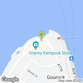 Map of Coast Locum in Gourock, renfrewshire
