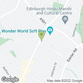 Map of Leith Walk Dental Practice in Leith, Edinburgh, midlothian