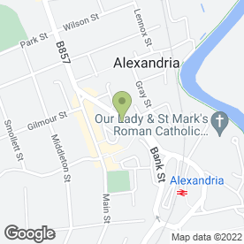 Map of Oakview Medical Practice in Alexandria, dunbartonshire