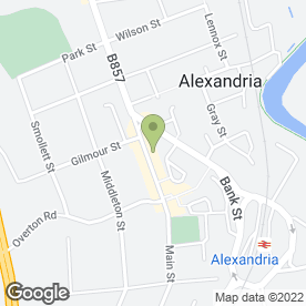 Map of Greggs in Alexandria, dunbartonshire