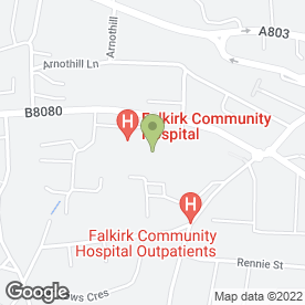 Map of Central Sexual Health in Falkirk, stirlingshire
