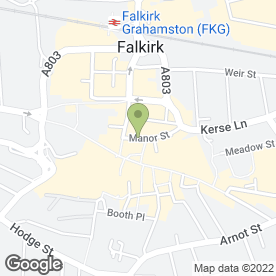 Map of Nudel in Falkirk, stirlingshire