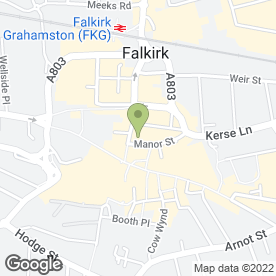 Map of Chest,Heart & Stroke Scotland in Falkirk, stirlingshire