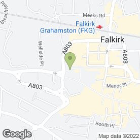 Map of Marshall Wilson Law Group Ltd in Falkirk, stirlingshire