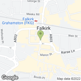Map of Bill Miller Photographers in Falkirk, stirlingshire
