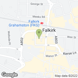 Map of Hot Kebabs in Falkirk, stirlingshire