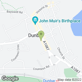 Map of Border Skip Hire in Dunbar, east lothian