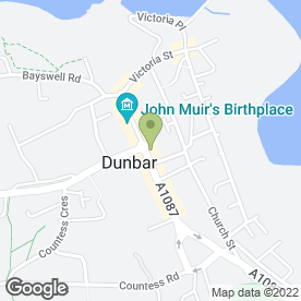 Map of Royal Bank of Scotland in Dunbar, east lothian