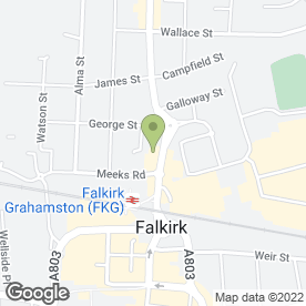 Map of Antonio's Restaurant in Falkirk, stirlingshire