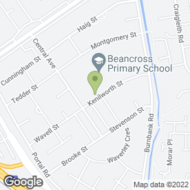 Map of Beancross Primary School in Grangemouth, stirlingshire
