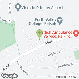 Map of Forth Valley College in Falkirk, stirlingshire